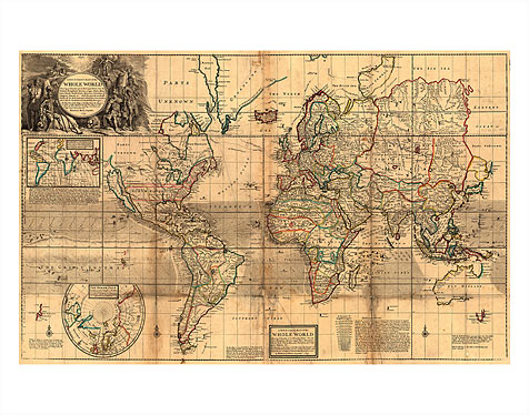 Art Prints Posters The Whole World Map Britains Possessions
