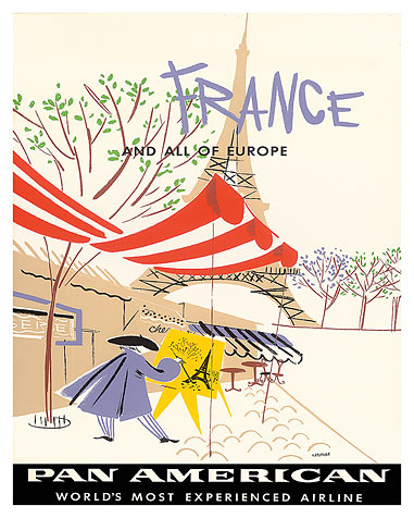 art prints posters pan american airlines france and all of 20 X 20 Print Folk Art 16 x 20 gicl e art print 44 98