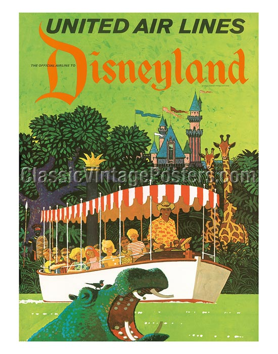 Art Prints & Posters - United Airlines Disneyland, Anaheim ...