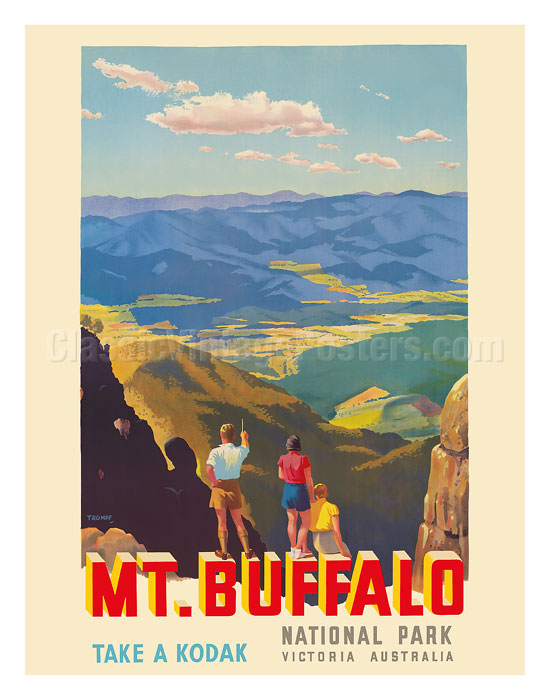 Art Prints & Posters - Mt  Buffalo National Park - Victoria