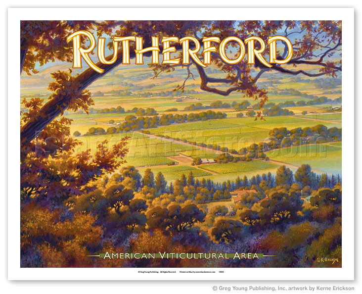 Art Prints & Posters - Rutherford Wineries - Napa Valley