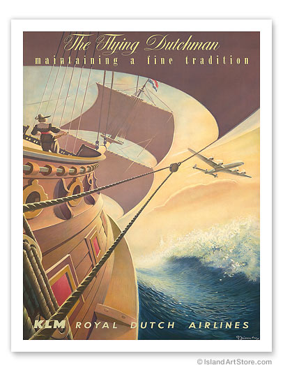 KLM Royal Dutch Airlines: The Flying Dutchman - Giclée Art Prints & Posters