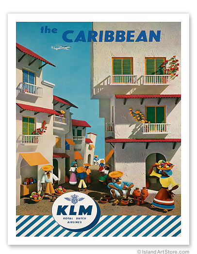 KLM Royal Dutch Airlines: The Caribbean - Giclée Art Prints & Posters