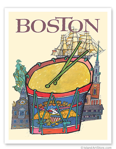 Trans World Airlines: Boston - Fly TWA Jets - Giclée Art Prints & Posters