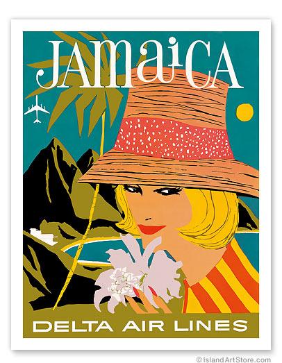 Delta Air Lines: Jamaica - Giclée Art Prints & Posters