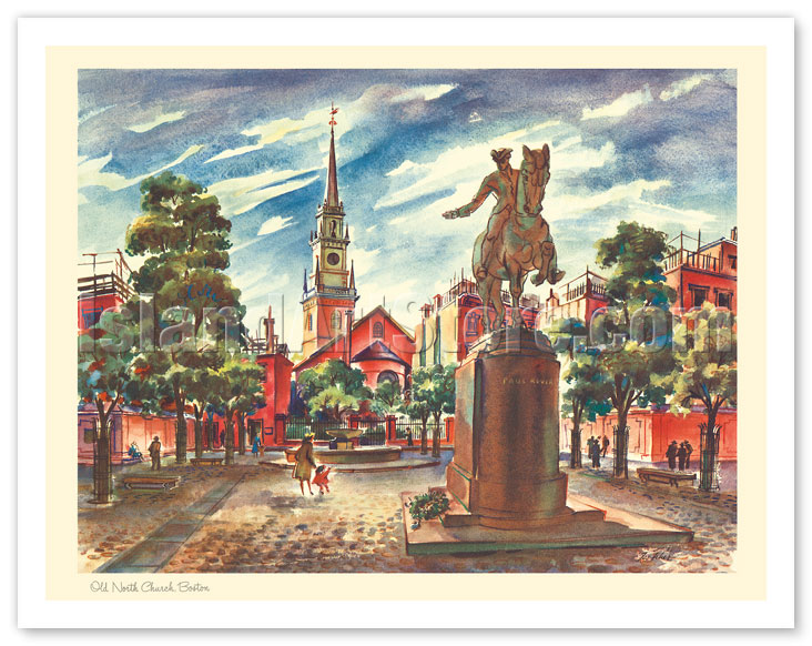 Art Calendar Boston : Fine art prints posters old north church boston