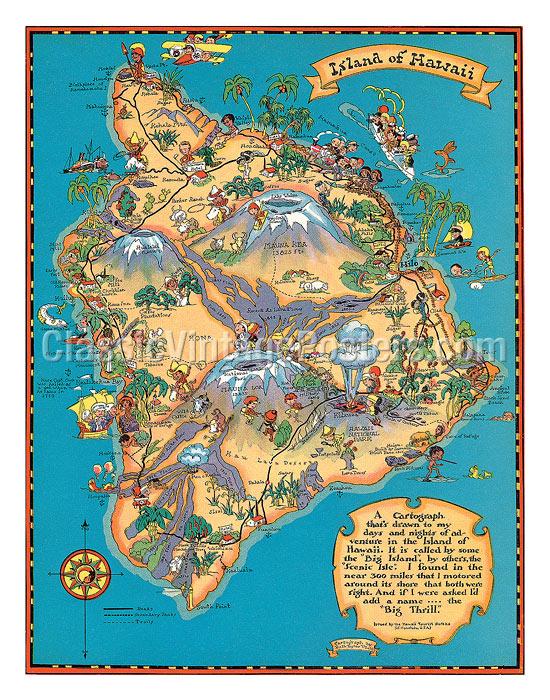 Art Prints & Posters - Hawaiian Island of Hawaii (Big