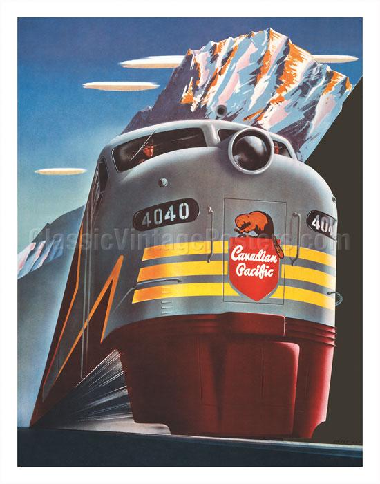 "CANADIAN PACIFIC RAILROAD 4040 9/"" x 12/"" ALUMINUM SIGN"