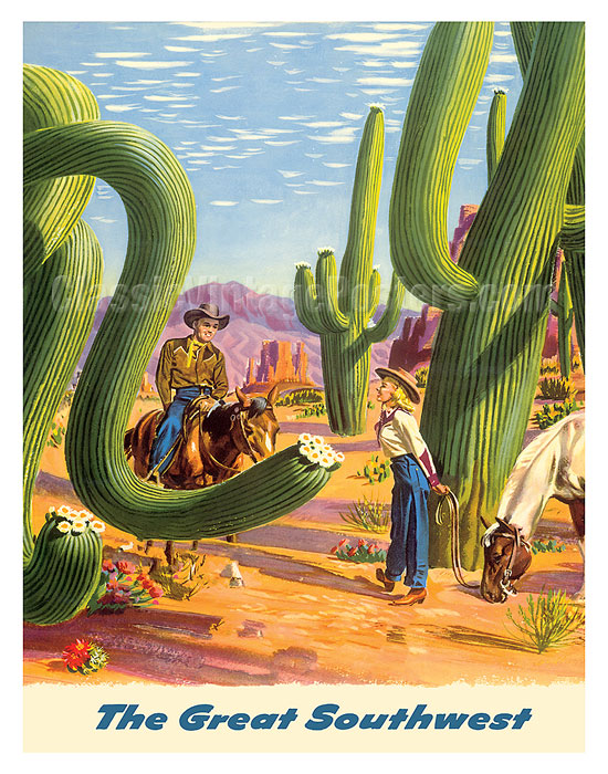 Art Prints Posters To The Great Southwest Fly Twa