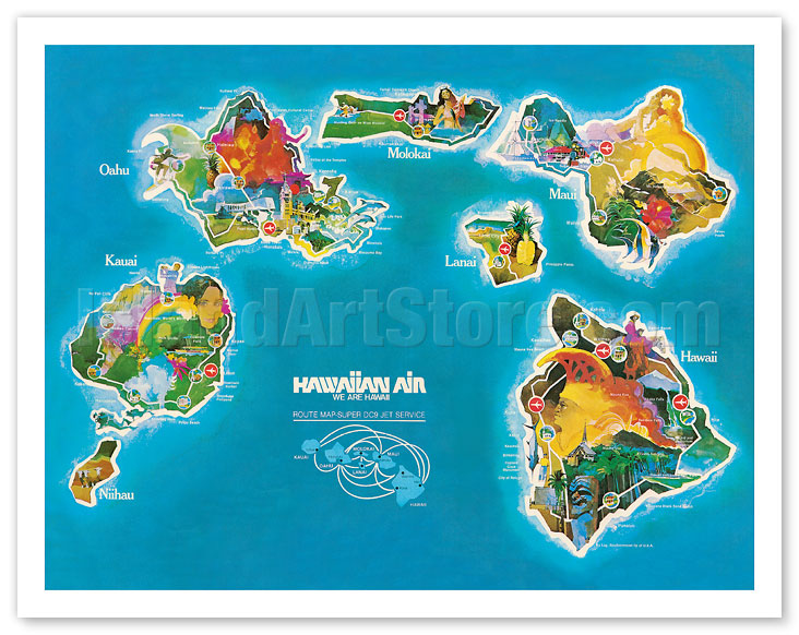 It is a picture of Printable Map of Hawaiian Islands in oahu