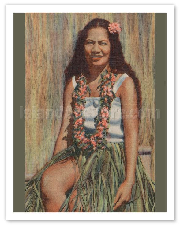 Consider, that Vintage hawaiian hula girl art consider, that
