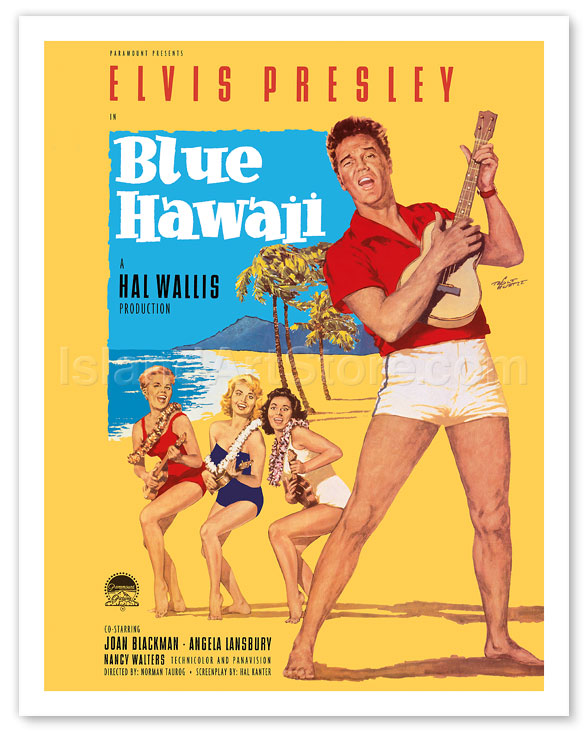Fine Art Prints & Posters - Elvis Presley in Blue Hawaii - Giclée ...