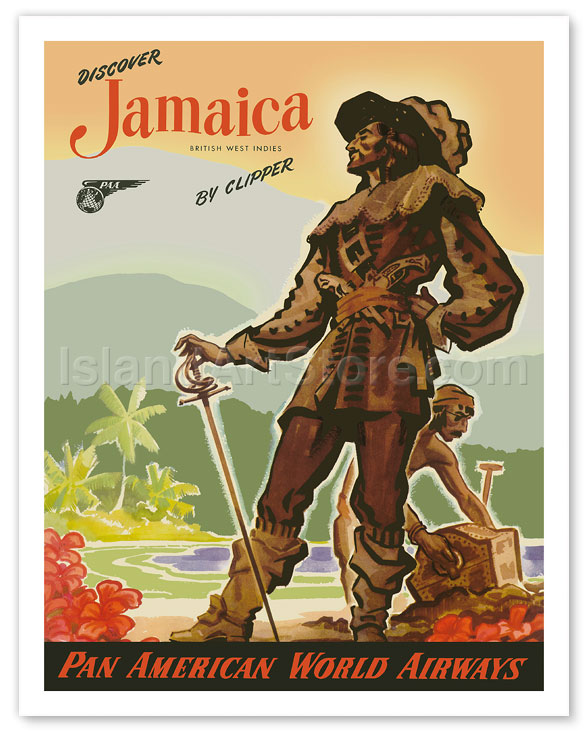 Fine art prints posters discover jamaica by clipper for Case in stile british west indies