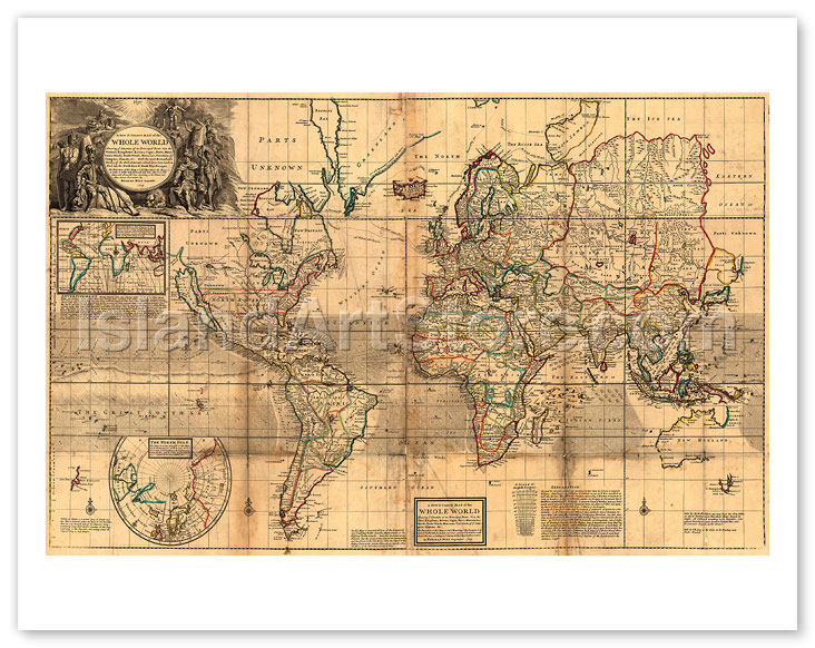 Fine Art Prints & Posters - The Whole World Map - Britain\'s ...