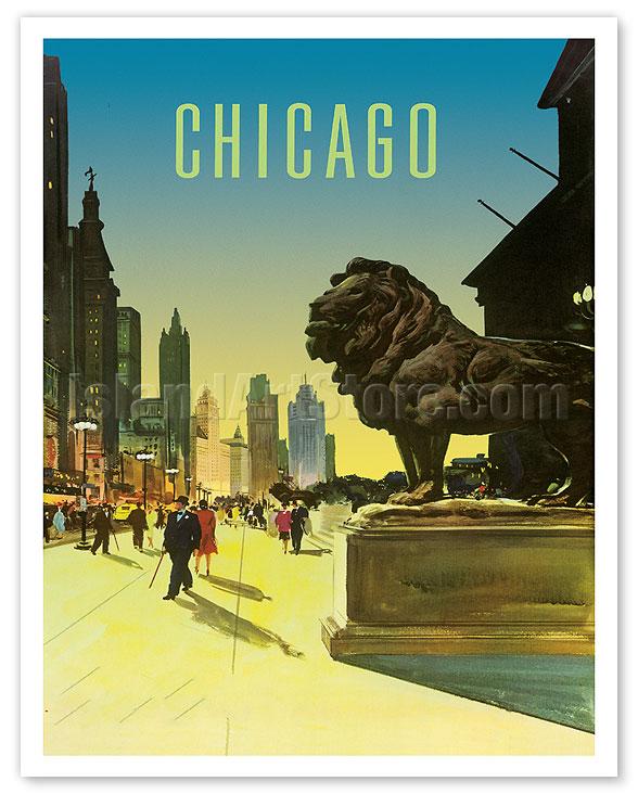 d2cb5843f99 Fine Art Prints   Posters - Chicago - Art Institute of Chicago Lion ...