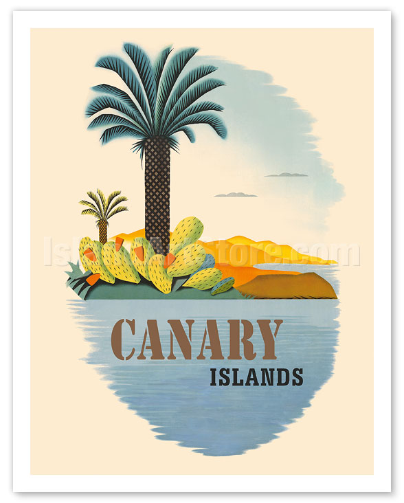 fine art prints posters canary islands palm trees and cactus