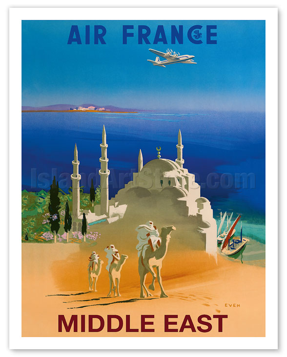 Fine Art Prints & Posters - Middle East - Air France - Tuareg Camel ...
