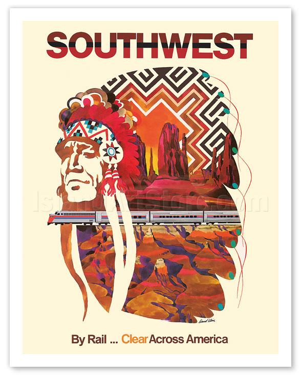 Fine Art Prints Posters Southwest By Rail Clear Across