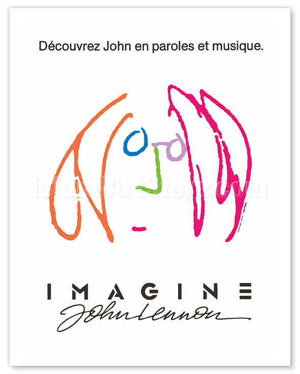 Fine Art Prints Posters Imagine Starring The Beatles John Lennon Discover John In Words And Music Giclee Art Prints Posters Islandartstore Com