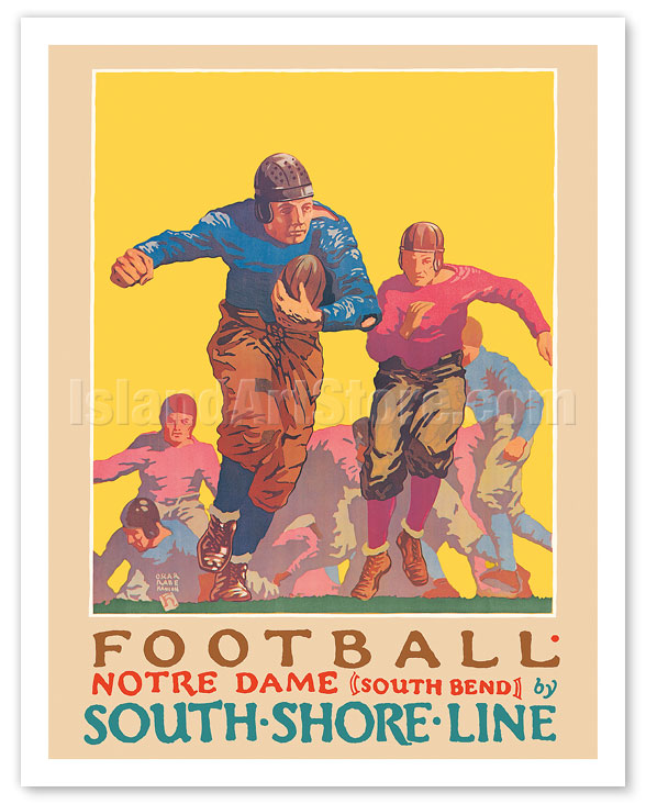 Fine Art Prints & Posters - Football - University of Notre