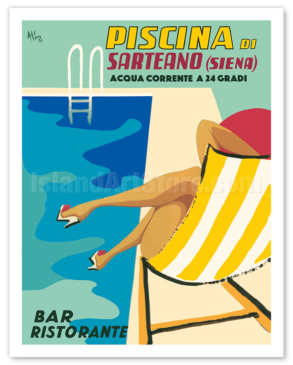Fine Art Prints & Posters - Sarteano Swimming Pool Resort ...