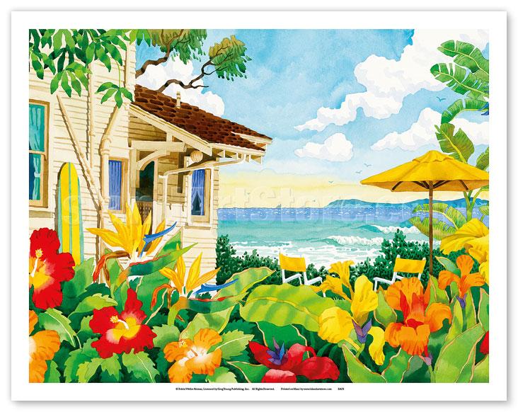 Fine art prints posters the good life tropical beach for Beach house prints