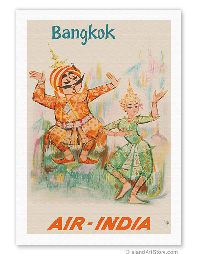 b4ef89b546c29 Fine Art Prints & Posters - Bangkok, Thailand - Air India - Maharaja ...
