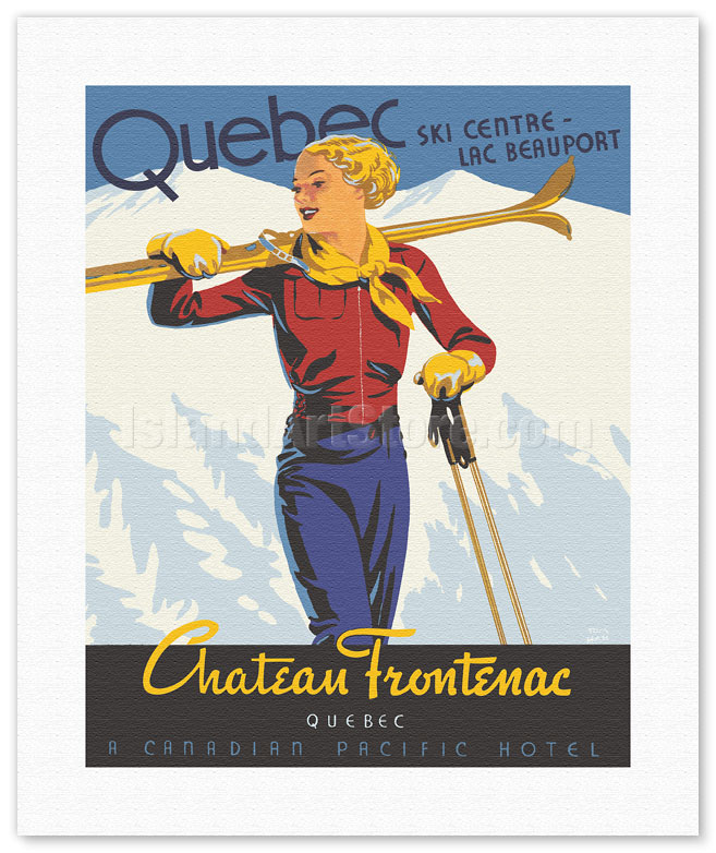 Quebec Chateau Frontenac Canada Canadian Pacific Travel Advertisement Poster