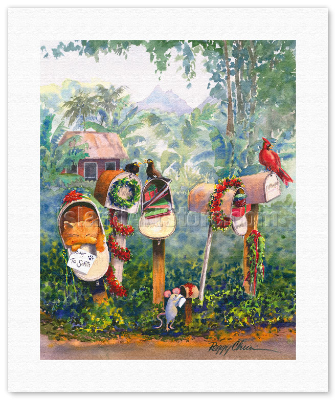 Fine Art Prints & Posters - To Santa - Hawaiian Christmas (Mele ...