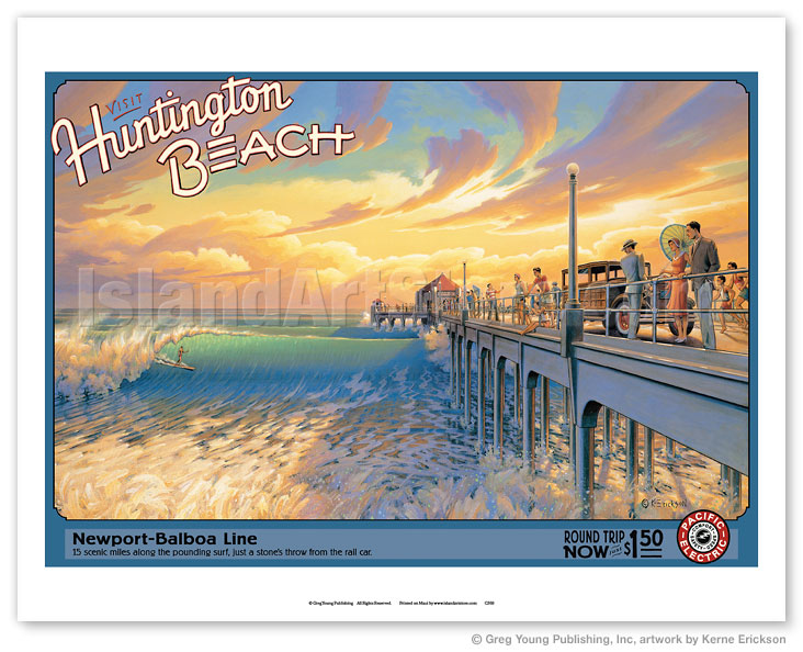 Fine Art Prints & Posters - Visit Huntington Beach - California ...