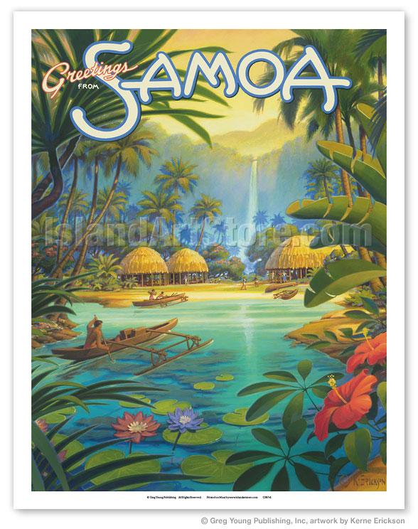 Fine art prints posters greetings from samoa samoan islands 11 x 14 gicle art print m4hsunfo