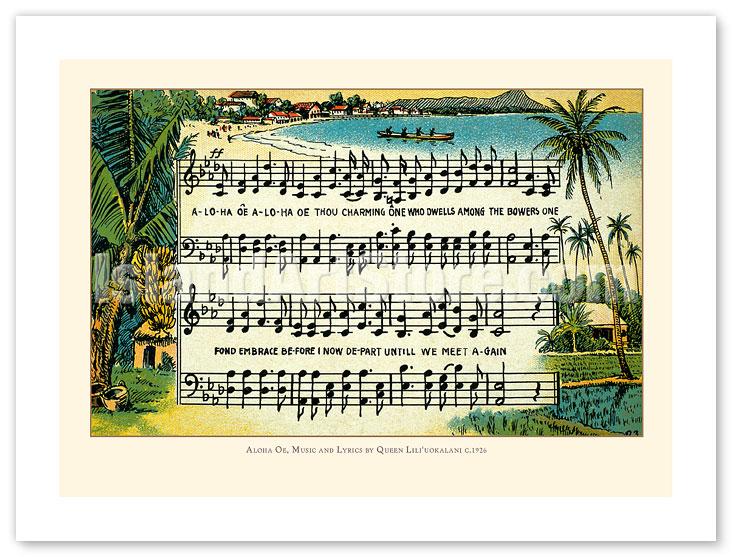 Fine Art Prints Posters Aloha Oe Farewell To Thee