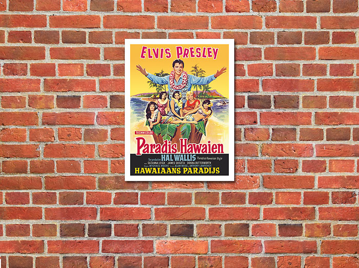 Hawaiian Paradise Elvis Presley 1966 Vintage Film Movie Poster Metal Tin Sign