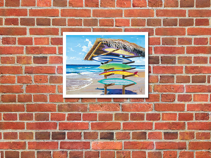 Art Prints & Posters - Stacked - Surfboard Art - Giclée ...