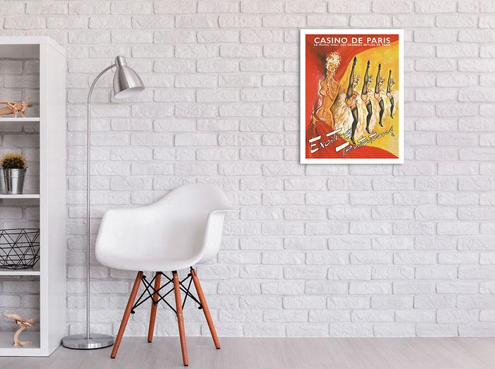 Casino De Paris France Exciting Tentations Vintage Travel Advertisement Poster